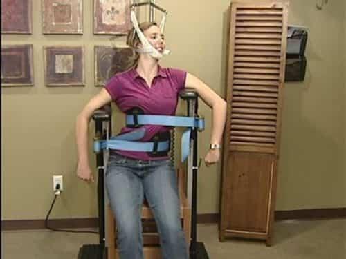 Escoliose - Cadeira de tração quiroprática